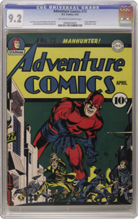 Adventure Comics #73 (DC, 1942) CGC NM- 9.2 Off-white to white pages. As the finest known copy of one of Overstreet's 10...