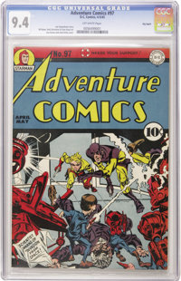 Adventure Comics #97 Big Apple pedigree (DC, 1945) CGC NM 9.4 Off-white pages. One of the most prized pedigrees offers t...