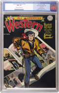 Golden Age (1938-1955):Western, All-American Western #103 Mile High pedigree (DC, 1948) CGC NM- 9.2Off-white to white pages. This copy of the first issue o...
