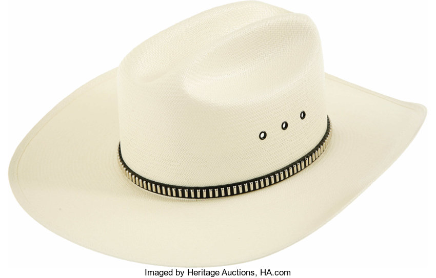 Toby Keith Signed Cowboy Hat. A white Stetson with studded  d8a749d1fbc