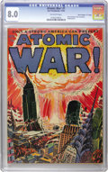 "Golden Age (1938-1955):Science Fiction, Atomic War! #1 Davis Crippen (""D"" Copy) pedigree (Ace, 1952) CGC VF8.0 Off-white pages. The apocalyptic cover is the big dr..."