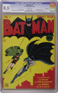 Golden Age (1938-1955):Superhero, Batman #1 Kansas City pedigree (DC, 1940) CGC VF+ 8.5 Off-white pages. We can't remember the last time an unrestored copy th...