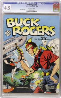 Buck Rogers #1 (Eastern Color, 1940) CGC VG+ 4.5 Off-white pages. Only one of the few copies of this issue that have bee...