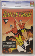 Golden Age (1938-1955):Superhero, Bulletman #3 Crowley Copy/File Copy (Fawcett, 1942) CGC VF- 7.5 Cream to off-white pages. This Crowley File Copy features th...