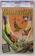 Golden Age (1938-1955):Superhero, Bulletman #6 Crowley Copy/File Copy (Fawcett, 1942) CGC NM 9.4 Off-white pages. A Charles Sultan cover and Bill Ward art add...