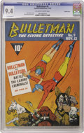 Golden Age (1938-1955):Superhero, Bulletman #9 Crowley Copy pedigree (Fawcett, 1942) CGC NM 9.4 Off-white to white pages. Bulletman and Bulletgirl are in dogg...