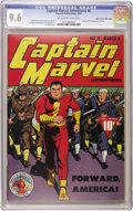 Golden Age (1938-1955):Superhero, Captain Marvel Adventures #8 Mile High pedigree (Fawcett, 1942) CGC NM+ 9.6 Off-white to white pages. The evil Ibac made his...