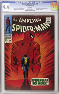"""Silver Age (1956-1969):Superhero, The Amazing Spider-Man #50 (Marvel, 1967) CGC NM 9.4 White pages. Lo and behold, """"top of Guide"""" for this book has hit a cool..."""