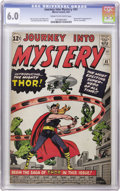 Silver Age (1956-1969):Superhero, Journey Into Mystery #83 (Marvel, 1962) CGC FN 6.0 Cream to off-white pages. The origin and first appearance of Thor puts th...