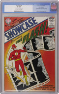 Silver Age (1956-1969):Superhero, Showcase #4 The Flash Ohio-Fairborn pedigree (DC, 1956) CGC VF 8.0 Off-white to white pages. Zooming your way is a very pret...