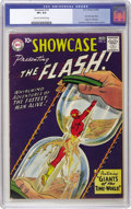 """Silver Age (1956-1969):Superhero, Showcase #14 The Flash (DC, 1958) CGC VF+ 8.5 Cream to off-whitepages. """"Rare in NM,"""" says Overstreet about this issue, and ..."""