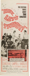 "Music Memorabilia:Posters, ""Hey, Let's Twist!"" Movie Insert Poster (Paramount, 1962). A 14"" x36"" poster for the 1962 rock musical starring Joey Dee, T...(Total: 1 Item)"