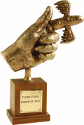 "Movie/TV Memorabilia:Props, ""Laugh-In"" Flying Fickle Finger of Fate Award. Broadcast from 1968to 1973 on NBC, Rowan & Martin's Laugh-In provided a ...(Total: 1 Item)"