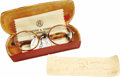 Movie/TV Memorabilia:Memorabilia, Duke of Windsor Owned and Worn Pair of Spectacles. A handsome pairof faux tortoiseshell spectacles with original lenses, ow...(Total: 1 Item)
