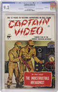 Golden Age (1938-1955):Science Fiction, Captain Video #3 Crowley Copy pedigree (Fawcett, 1951) CGC NM- 9.2Cream to off-white pages. A photo-realistic painted cover...