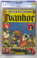 "Golden Age (1938-1955):Classics Illustrated, Classic Comics #2 Ivanhoe - Original Edition - Davis Crippen (""D""Copy) pedigree (Elliott, 1941) CGC FN- 5.5 Cream to off-whit..."