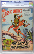"Golden Age (1938-1955):Classics Illustrated, Classic Comics #4 The Last of the Mohicans - Original Edition -Davis Crippen (""D"" Copy) pedigree (Gilberton, 1942) CGC FN+ 6...."