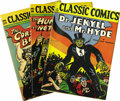 Golden Age (1938-1955):Classics Illustrated, Classic Comics Group (Gilberton, 1943-51). Grades vary widely on this group, which consists mostly of later editions circa 1... (Total: 10 Comic Books)
