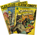 Golden Age (1938-1955):Classics Illustrated, Classic Comics and Classics Illustrated Original Editions Group(Gilberton, 1947) Condition: Average VF-. Included here are ...(Total: 9 Comic Books)