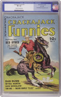 Golden Age (1938-1955):Western, Crackajack Funnies #9 Lost Valley pedigree (Dell, 1939) CGC VF+ 8.5Cream to off-white pages. Red Ryder, one of the most pop...