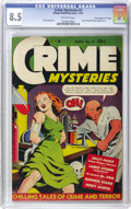 "Golden Age (1938-1955):Crime, Crime Mysteries #4 Davis Crippen (""D"" Copy) pedigree (Ribage Publishing, 1952) CGC VF+ 8.5 Off-white pages. A page of Frank ..."