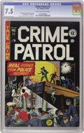 Golden Age (1938-1955):Crime, Crime Patrol #11 (EC, 1949) CGC VF- 7.5 Cream to off-white pages. This book appears to be one of the least common of the pre...