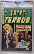 Golden Age (1938-1955):Horror, Crypt of Terror #17 (EC, 1950) CGC FN 6.0 White pages. This is thefirst New Trend EC comic to hit newsstands, and it's sixt...