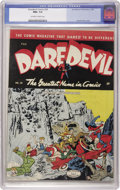Golden Age (1938-1955):Superhero, Daredevil Comics #29 (Lev Gleason, 1945) CGC NM+ 9.6 Off-white to white pages. Charles Biro cover. The highest graded copy o...