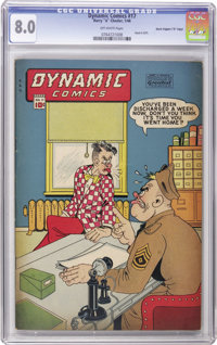 """Dynamic Comics #17 Davis Crippen (""""D"""" Copy) pedigree (Chesler, 1946) CGC VF 8.0 Off-white pages. One of the mo..."""