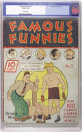 Platinum Age (1897-1937):Miscellaneous, Famous Funnies #3 (Eastern Color, 1934) CGC GD/VG 3.0 Off-whitepages. The first comic book appearance of Buck Rogers makes ...