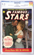 """Golden Age (1938-1955):Miscellaneous, Famous Stars #1 Davis Crippen (""""D"""" Copy) pedigree (Ziff-Davis, 1950) CGC NM- 9.2 White pages. In addition to this issue's ph..."""