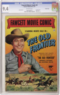 Golden Age (1938-1955):Western, Fawcett Movie Comic #9 The Old Frontier - Crowley Copy pedigree(Fawcett, 1951) CGC NM 9.4 Off-white pages. If the Monte Hal...