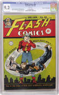 Golden Age (1938-1955):Superhero, Flash Comics #68 Mile High pedigree (DC, 1945) CGC NM- 9.2 White pages. If you're seeking this issue in high grade, the Mile...
