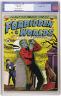Golden Age (1938-1955):Horror, Forbidden Worlds #4 White Mountain pedigree (ACG, 1952) CGC NM- 9.2Off-white to white pages. These pre-Code ACGs are so tou...