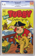 """Golden Age (1938-1955):Humor, Four Color #381 Marge's Tubby - Davis Crippen (""""D"""" Copy) pedigree (Dell, 1952) CGC NM 9.4 Off-white to white pages. This is ..."""