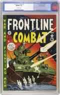 Golden Age (1938-1955):War, Frontline Combat #2 Gaines File pedigree 6/9 (EC, 1951) CGC NM/MT9.8 Off-white pages. It's a pristine copy of the Harvey Ku...