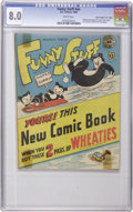 "Golden Age (1938-1955):Funny Animal, Funny Stuff Wheaties Giveaway #nn Davis Crippen (""D"" Copy) pedigree(DC, 1946) CGC VF 8.0 White pages. This scarce item is ""..."