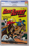 Golden Age (1938-1955):Western, Gene Autry Comics #3 (Fawcett, 1942) CGC VF+ 8.5 Cream to off-whitepages. This newly certified specimen has rocketed to nea...