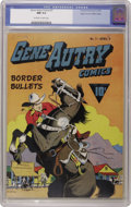 Golden Age (1938-1955):Western, Gene Autry Comics #7 Mile High pedigree (Fawcett, 1943) CGC NM 9.4Off-white to white pages. America's Singing Cowboy could ...