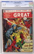 "Golden Age (1938-1955):Science Fiction, Great Comics #3 Davis Crippen (""D"" Copy) pedigree (Great ComicsPublications, 1942) CGC GD+ 2.5 Cream to off-white pages. ""F..."