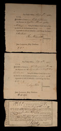 Colonial Notes:Connecticut, Three Connecticut Fiscal Documents. Very Fine.. ... (Total: 3notes)