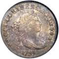 Early Dimes, 1798/97 10C 16 Stars on Reverse AU53 NGC. JR-1, R.3....