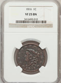 Large Cents, 1816 1C VF25 Brown NGC. NGC Census: (2/200). PCGS Population(5/223). Mintage: 2,820,982. Numismedia Wsl. Price for problem...