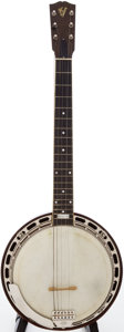 Musical Instruments:Banjos, Mandolins, & Ukes, 1925 Gibson GB-1 Six-String Red Stain Tenor Banjo, Serial # 8270-11...