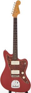 Musical Instruments:Electric Guitars, 1963 Fender Jazzmaster Re-Finished Red Solid Body Electric guitar,Serial # L11374...