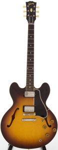 Musical Instruments:Electric Guitars, 1959 Gibson ES-335 Sunburst Semi-Hollow Body Electric Guitar,Serial # A29998....