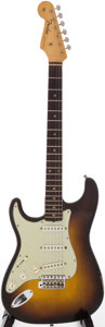 Musical Instruments:Electric Guitars, 1960 Fender Stratocaster Left-Handed Sunburst Solid Body ElectricGuitar, Serial # 45618....