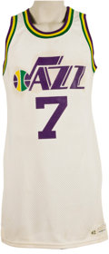 Basketball Collectibles:Uniforms, Late 1970's Pete Maravich Game Worn New Orleans Jazz Jersey....