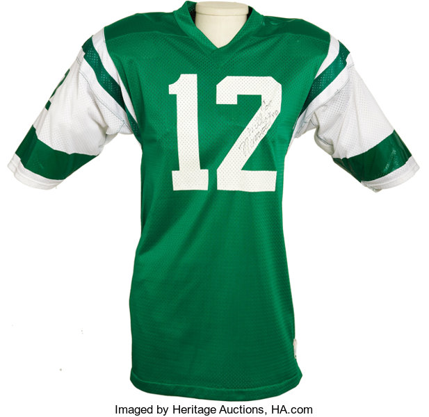 half off fc927 e8276 Early 1970's Joe Namath Game Worn New York Jets Jersey ...