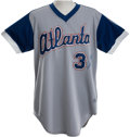 Baseball Collectibles:Uniforms, 1979 Dale Murphy Game Worn Atlanta Braves Jersey....